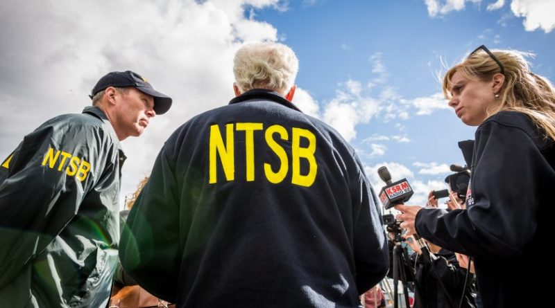 Earl Weener, NTSB board member, talks to reportes outside the Soldotna airport on July 8, 2013. (Loren Holmes / Alaska Dispatch)