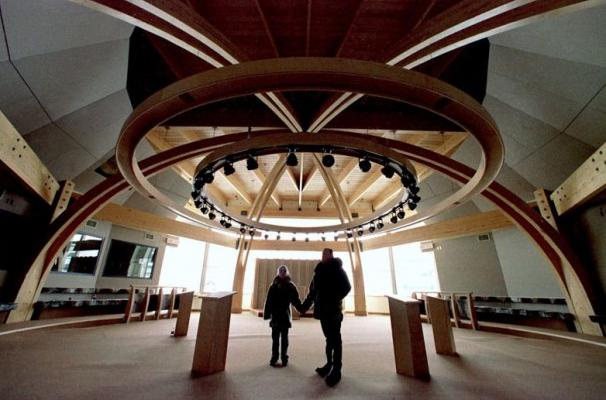 The Nunavut legislative building in Iqaluit, Nunavut, Canada. Nunavut officially became Canada's newest territory April. 1, 1999. Nunavut is the product of the largest land claim settlement in Canada's history. (Kevin Frayer / The Canadian Press)