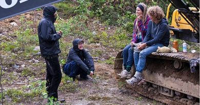 The activists who blocked work in Kallak. (Tor Lundberg Tuorda / Privat / Radio Sweden)