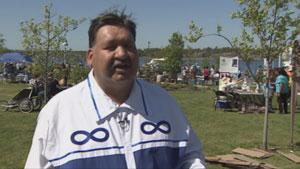 Bill Enge, with the North Slave Métis Alliance, said the financial benefits from the IBA will help them fight court battles with the federal government. (CBC)