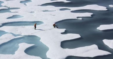 A team from NASA collects water for research projects from Arctic ice floes. (Kathryn Hansen / NASA photo / Alaska Dispatch)