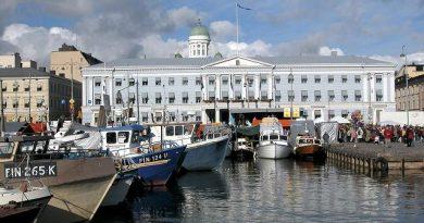Boats docked in Helsinki, Finland. (Paal Aarsaether / Lehtikuva / AFP)