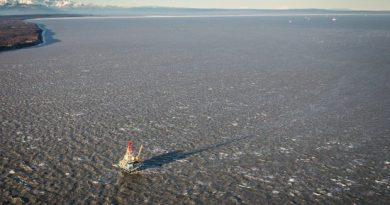 The Osprey platform in Cook Inlet. November 1, 2012. (Loren Holmes / Alaska Dispatch )