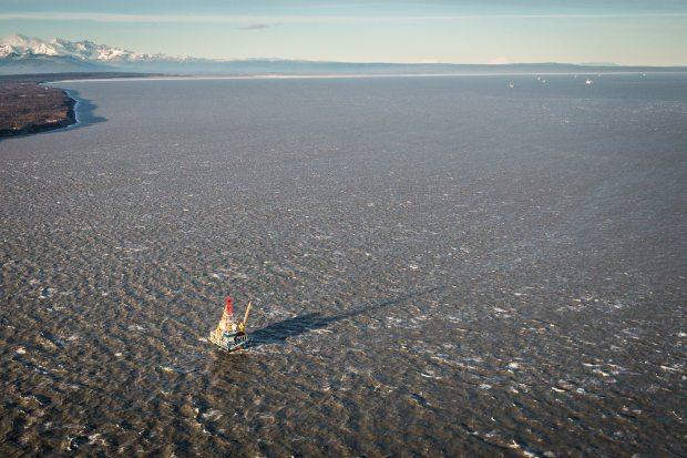 The Osprey platform in Cook Inlet. November 1, 2012. (Loren Holmes / Alaska Dispatch )