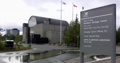 Le Centre du patrimoine septentrional de Yellowknife dans les Territoires du Nord-Ouest. (Chuck Stoody / La Presse Canadienne)