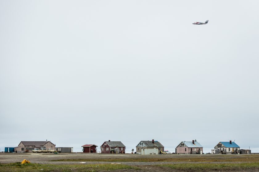 The village of Gambell, on St. Lawrence Island. August 29, 2012. (Loren Holmes / Alaska Dispatch)