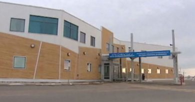 The Qikiqtani General Hospital in Iqaluit. A new study says Inuit children's hospital admissions for respiratory illnesses such as RSV, pneumonia or bronchitis are costing Northern governments millions of dollars. (CBC)