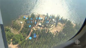 The Nechalacho project site is located near the East Arm of Great Slave Lake. (CBC)