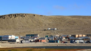 A view of the hamlet of Resolute. The new military Arctic Training Facility has opened in the community, the federal government announced Thursday. (Vincent Desrosiers/CBC)