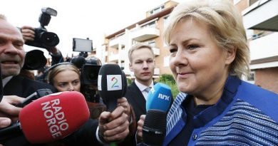 Erna Solberg led her Conservative Party to victory in the September 9, 2013 vote alongside three other centre-right parties, putting an end to eight years of centre-left rule. (Lise Aserud / NTB scanpix / AFP)