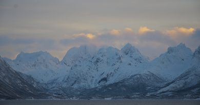 January sunset in Northern Norway. (Mia Bennett)