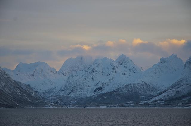 January sunset in Northern Norway. (Mia Bennett)