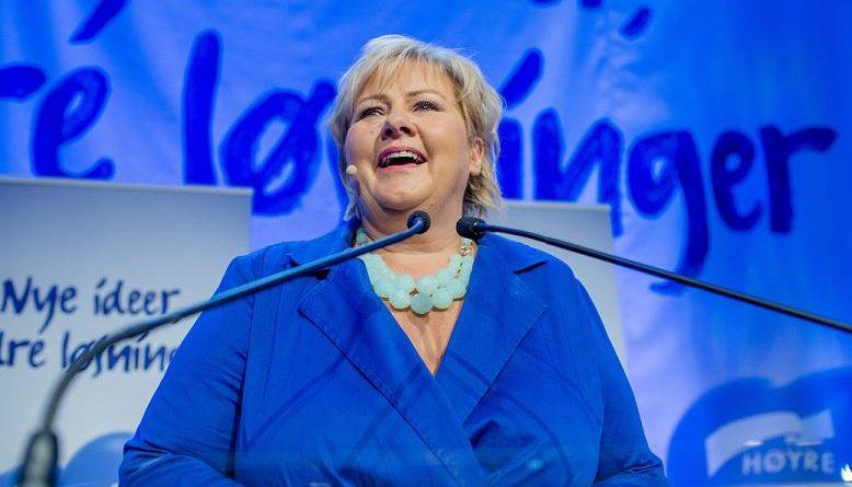 Norway's new Prime Minister Erna Solberg.(Stian Lysberg Solum, /NTB Scanpix / AP)