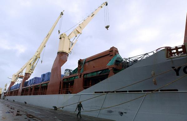 The Chinese cargo ship Yong Sheng (pictured here in Sri Lanka). ( Sanka Vidanagama / AFP)