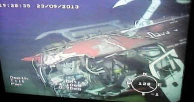 The Transportation Safety Board released this image of the Amundsen's helicopter, which was discovered on the ocean floor. The Transportation Safety Board released this image of the Amundsen's helicopter, which was discovered on the ocean floor. (Transportation Safety Board)