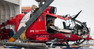 The TSB has recovered the wreckage of the helicopter that crashed into the Arctic Ocean earlier this month. (Transportation Safety Board)