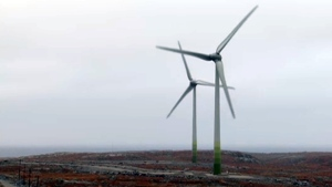 The mine installed four wind turbines at a cost of $31 million to help reduce power costs in the long run. (CBC)