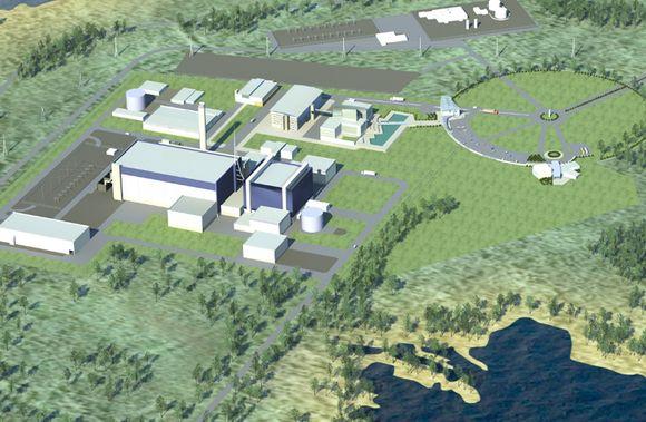 A mock-up of the planned facility on Finland's northwest coast. (Fennovoima / Yle)