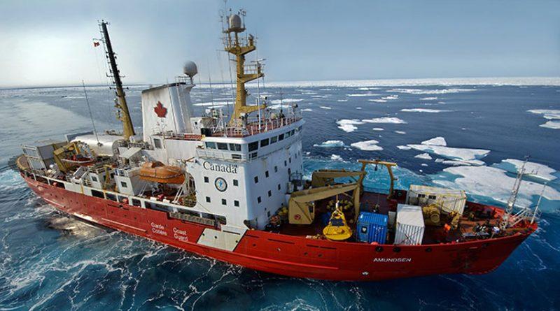 The Amundsen coast guard icebreaker. (ArcticNet / CBC)