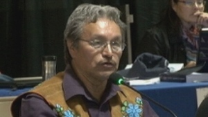 Eddie Erasmus was re-elected Tlicho Grand Chief last night. (CBC)