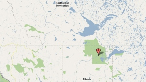 Wood Buffalo National Park straddles the Northwest Territories and Alberta border. (CBC)