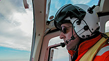 Daniel Dubé, the pilot of the Amundsen's helicopter, radioed that the chopper was on its way back from an ice survey. Shortly after, radio contact was lost. (ArcticNet)