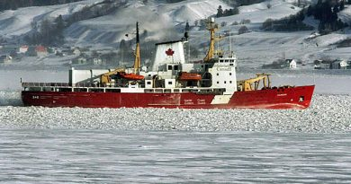 The bodies of three people killed in the crash of a helicopter from the Canadian Coast Guard icebreaker Amundsen have been moved to Resolute, Nunavut. (Jacques Boissinot/Canadian Press)