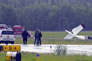 Ten people were killed when an airplane crashed just after takeoff in Soldotna. (Alaska Public Radio Network)