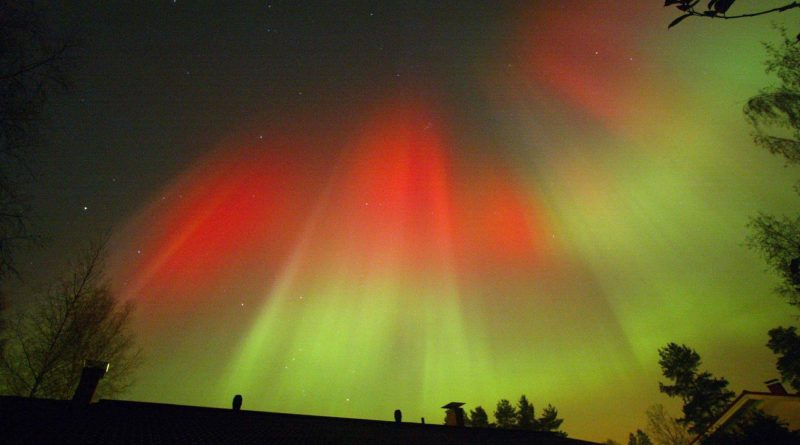 Aurora borealis in Finland in 2003. (Pekka Sakki / AFP)