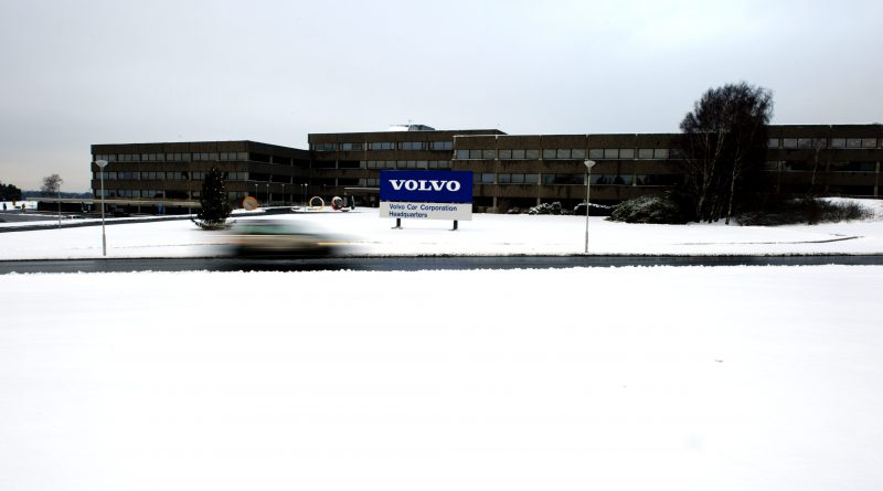 The headquarters of Swedish car manufacturer Volvo in Gothenburg, southwestern Sweden, on December 23, 2009. (Adam Ihse / AFP)