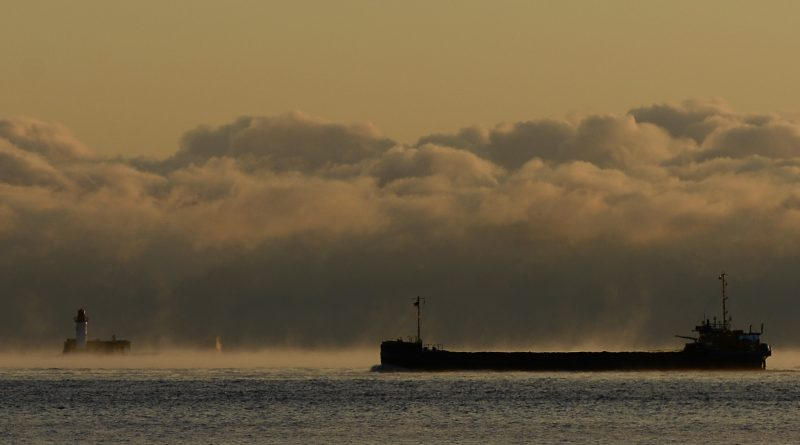 A ship makes it ways through heavy morning fog towards the Baltic Sea outside the northern Swedish city of Sundsvall on November 3, 2012. A 50 per cent increase in Baltic shipping is expected within the next 30 years. (Jonathan Nackstrand / AFP)