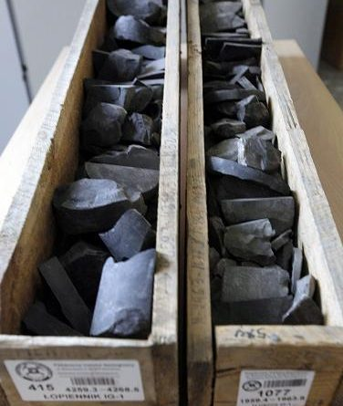 Samples of shale rocks in Poland in 2012. Great Bear Petroleum says they've found a new oil resource in shale rocks south of Prudhoe Bay, Alaska. (Czarek Sokolowski / AP)