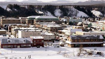 Le centre-ville de Whitehorse. (Radio-Canada)
