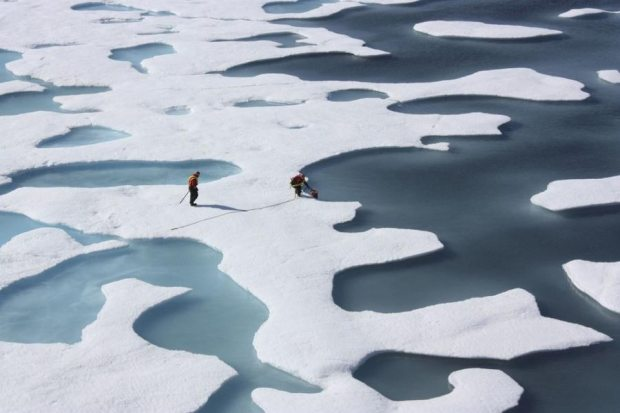 The dramatic reduction of Arctic sea ice witnessed from 2007 to 2012 is now considered by some scientists to be a