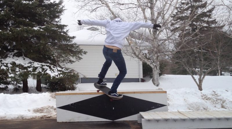 Performance, Komatik Skatebox 201, digital video still, Video by Navarana Igloliorte (Courtesy of Galerie Donald Brown)