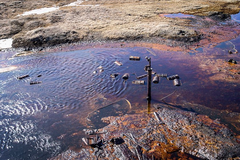 An abandoned exploratory oil well in the National Petroleum Reserve Alaska. The state is pressuring the Federal Government to clean up the decades-old site. | Alaska Oil and Gas Commission photo