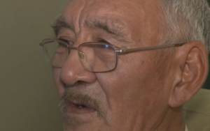 Simon Okpakok says he cannot afford the repairs needed for his home. (CBC)