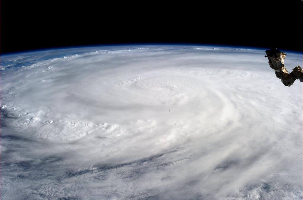 Super Typhoon Haiyan from the International Space Station on November 9, 2013.   (Karen L. Nyberg / NASA / AFP)