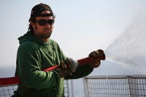 Alexandre Paul of Montreal, was a deckhand aboard the Greenpeace ship Arctic Sunrise. (Jiri Rezac/Greenpeace)