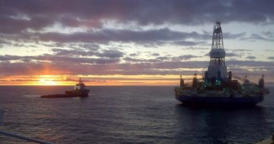Royal Dutch Shell's Kulluk drillship in the Beaufort Sea in fall 2012. (Royal Dutch Shell/Alaska Dispatch)