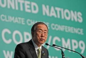 UN Secretary General Ban Ki-moon urged delegates at the conference Tuesday to