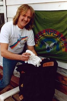 Paul Ruzycki joined Greenpeace in 1988. (Courtesy Ruzycki family)