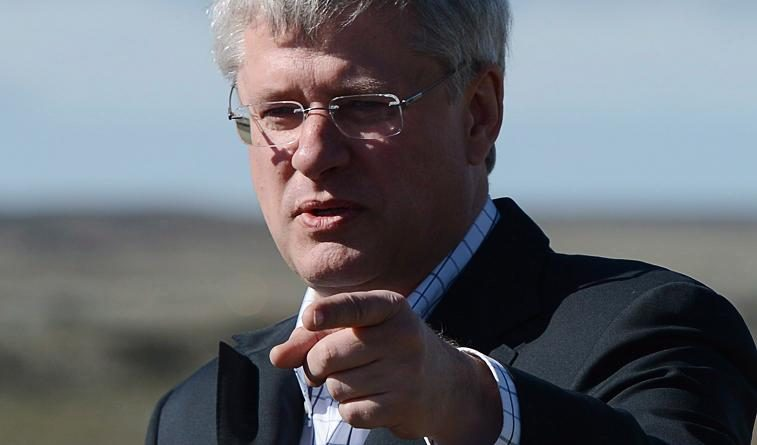 Canadian Prime Minister Stephen Harper pictured in Nunavik, the Inuit self-governeing region of northern Quebec, on August 23, 2013. (Sean Kilpatrick / The Canadian Press)