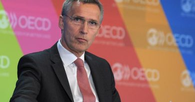 Jens Stoltenberg at OECD headquarters in Paris on May 29, 2013 while serving as Norway's Prime Minister. (Eric Piermont)