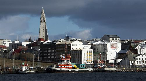 With a population of only 322,000 and one of the lowest crime rates in the world, police in Iceland rarely draw their weapons in the northern island nation. (Halldor Kolbeins / AFP)