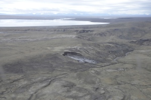 The Fosheim Peninsula on Ellesmere Island contains both coal and unique fossils, including alligators, turtles and primates that lived on the Arctic Island 50 million years ago. (N. Rybczynski)