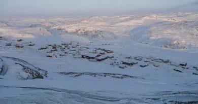 Le hameau de Kimmirut au Nunavut, en hiver (Gracieuseté, Syula Bobinski)