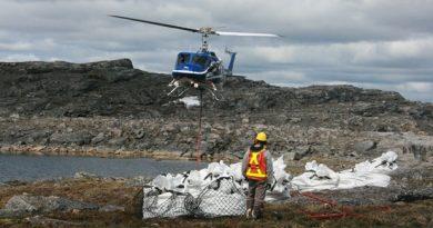 Bulk samples of kimberlite at Peregrine Diamond's Chidliak site in Nunavut. (Peregrine Diamonds)