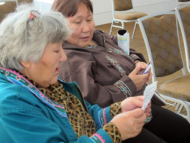 Two Alaska women in Barrow, Alaska singing
