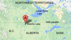 The research is taking place in north-westernh Alberta near Bitscho Lake (RCI)